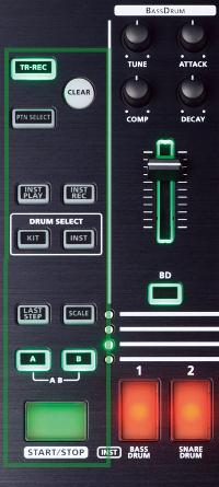 TR-8 Transport Controls